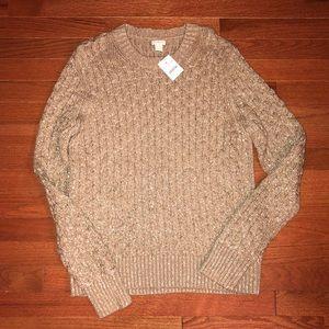 Gorgeous brand new gold J. Crew sweater